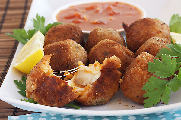 Arancini (Risotto) Balls with Marinara Sauce