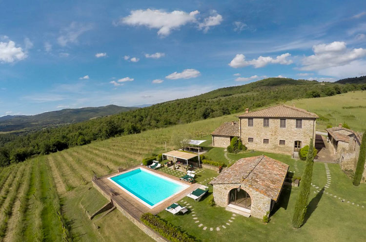 Chianti countryside, Tuscany Now and More villa with swimming pool