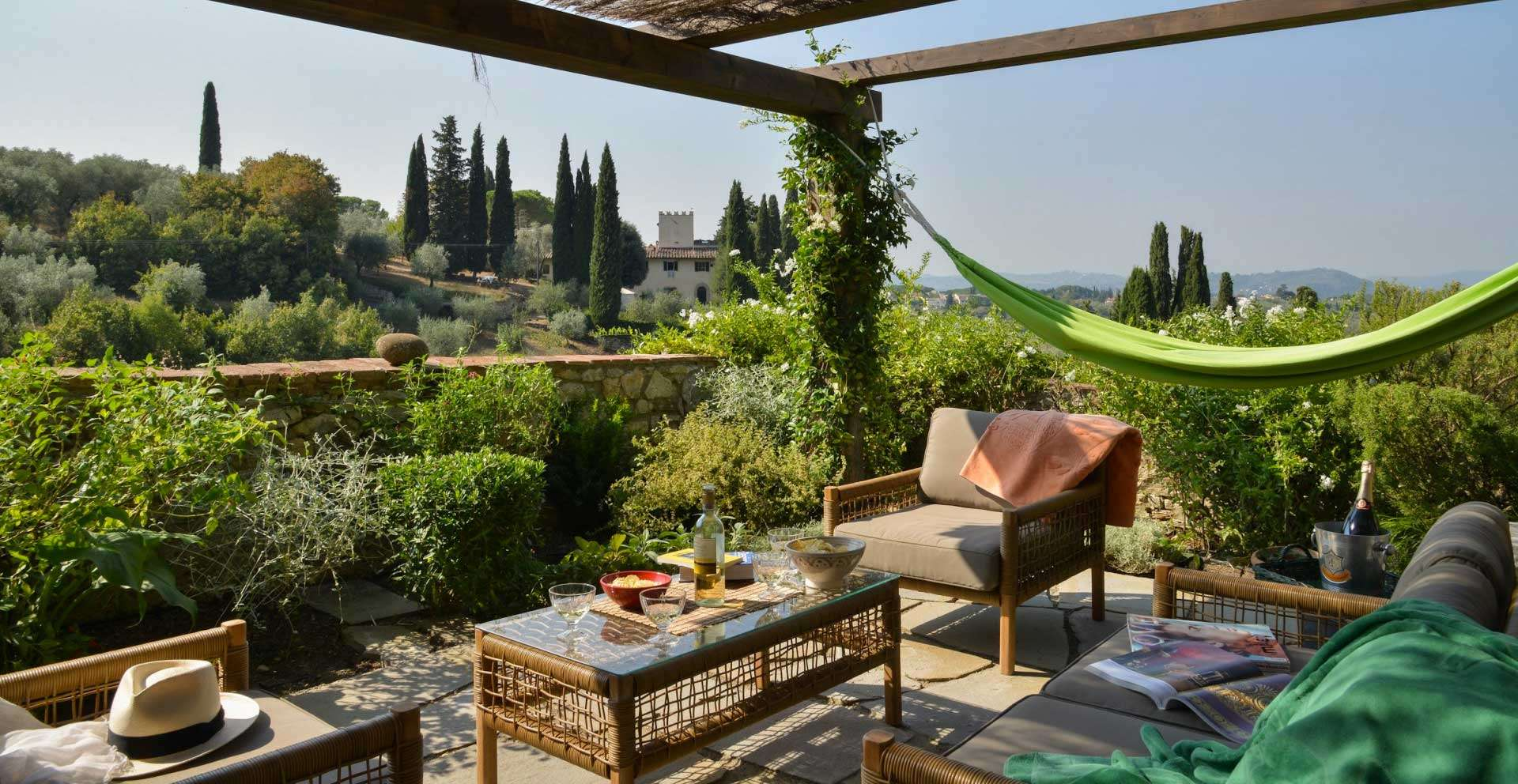 Il Nido del Picchio is part of a beautiful, privately owned 15th century hamlet located in the olive clad hills that overlook Florence.